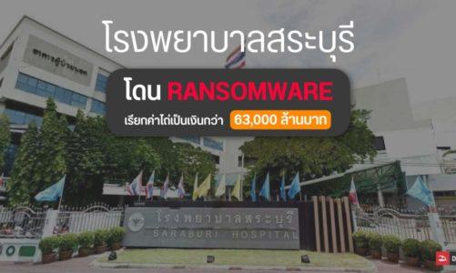 โรงพยาบาลสระบุรี ถูกแฮกข้อมูล จาก Ransomeware โดนเรียกค่าไถ่ในตระกูลบิทคอยน์