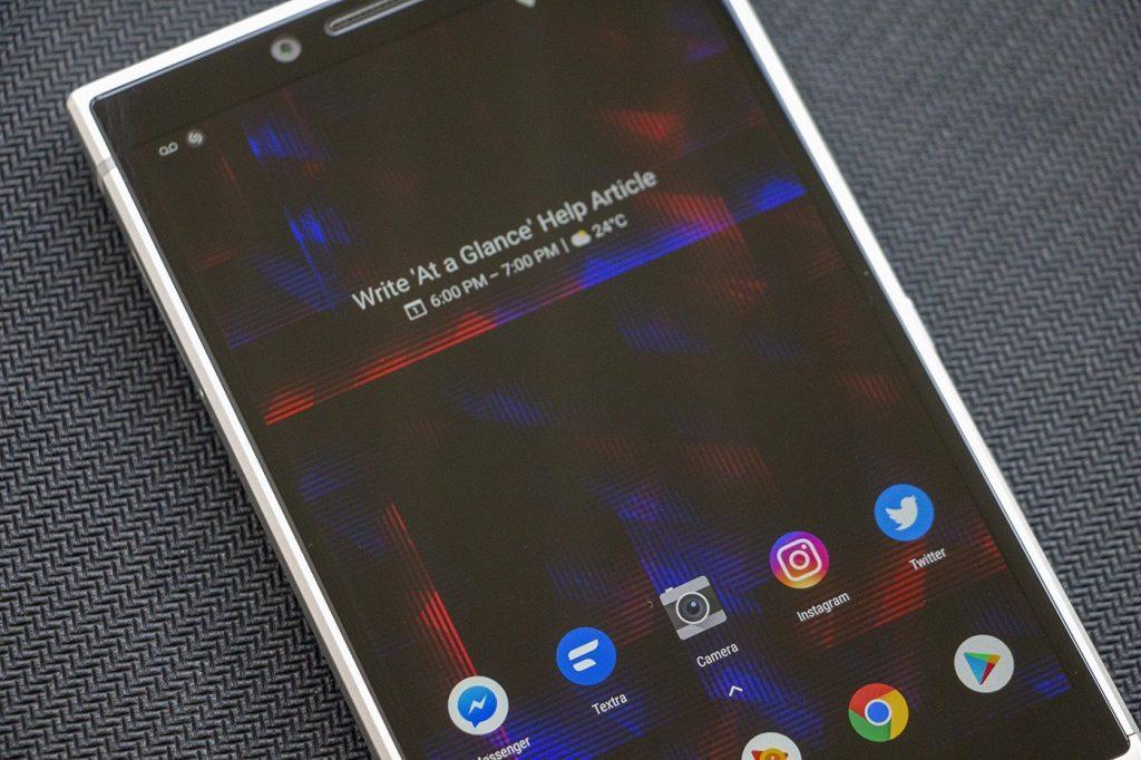วิดเจทแอทอะแกลนซ์ที่ปรากฏขึ้นใน โทรศัพท์ Google  Pixel