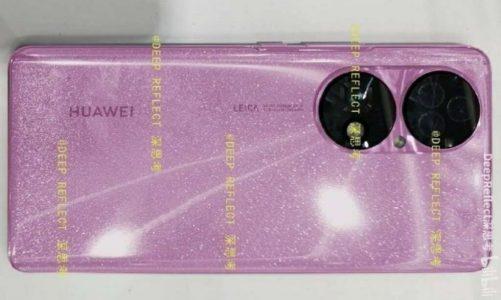 หลุดภาพเครื่องจริง HUAWEI P50 สีชมพูประกายเพชรพร้อมเลนส์กล้องจาก Leica